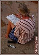 Serena Supplee paints the Grand Canyon in a brilliant interpretation of time, space, and emotion.